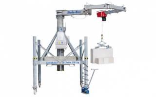Поворотный подъемник для строительных материалов