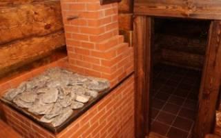 Как построить печку в бане из кирпича?