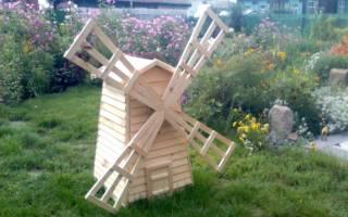 Как построить мельницу на даче своими руками?