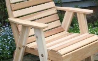 Кресло из дерева своими руками