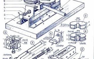 Универсальная приспособа для гибки квадрата и арматуры