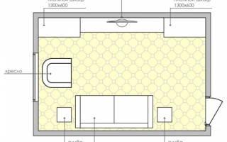 Дизайн зала в панельном доме 18 кв. м