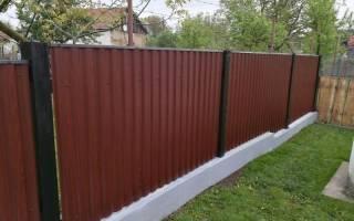 Забор для сада из профнастила