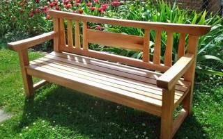 Как построить скамейку со спинкой своими руками?
