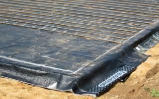 Горизонтальная гидроизоляция фундаментной плиты