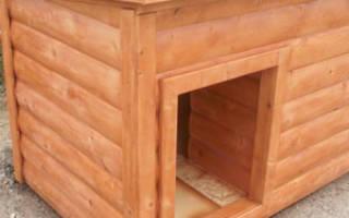 Деревянная будка для собаки своими руками
