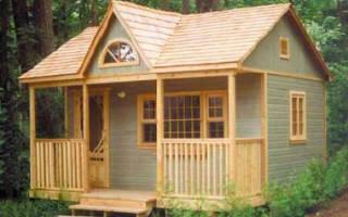 Как построить садовый домик своими руками?