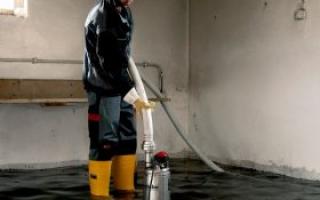 Как осушить подвал от грунтовых вод?