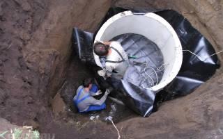 Как сделать гидроизоляцию бетонных колец?