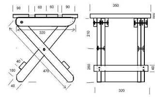 Как сделать складные стулья