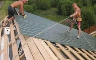 Как крутить металлочерепицу на крышу?