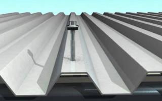 Чем крепится профнастил на крыше?