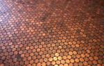 Пол сделанный из монет, реальное воплощение идеи
