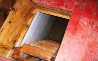 Погреб в подвале частного дома своими руками