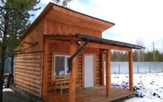 Как построить односкатную крышу на бане?