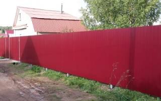 Забор профнастила высотой 2 метра