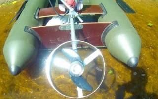 Мотор для лодки из редуктора и шуруповерта