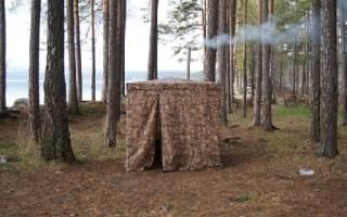 Как построить баню в лесу?