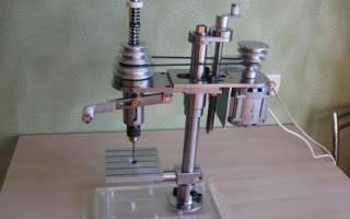 Сверлильный станок из плиткореза и электродрели