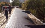 Ремонт протечки крыши из металлочерепицы