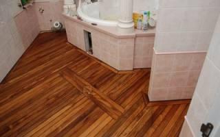 Гидроизоляция деревянного пола в ванной под линолеум