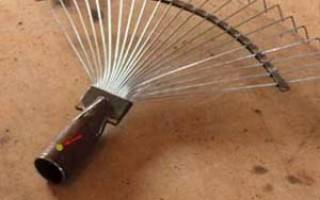 Веерные грабли из спиц от велосипеда