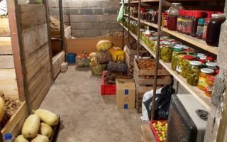 Обустройство подвала для хранения овощей