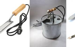 Как сделать электрический нож для горячей резки