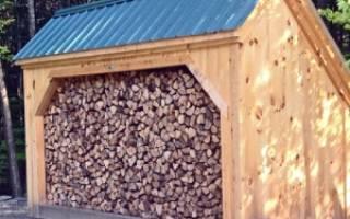 Как построить сарай для дров?