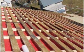 Какой шаг обрешетки под профнастил на крышу?