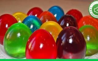 Как сделать цветные желейные яйца своими руками