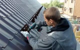 Как крепить снегозадержатели на профнастил на крышу?