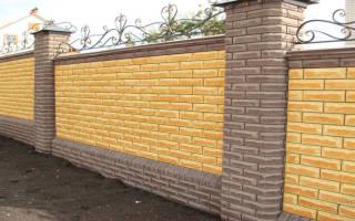 Как построить забор из кирпича своими руками?