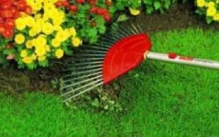 Механические грабли для уборки травы на участке