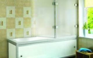 Раздвижная ширма для ванной своими руками