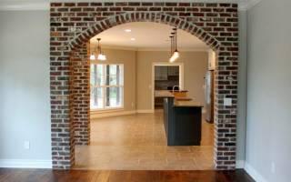 Как построить арку из кирпича?