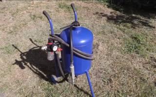 Как сделать оригинальный пескоструй из газового баллона