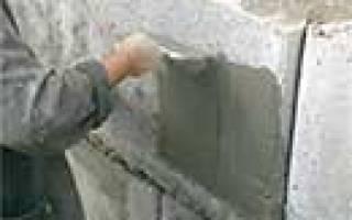 Горизонтальная гидроизоляция фундамента цементно песчаным раствором
