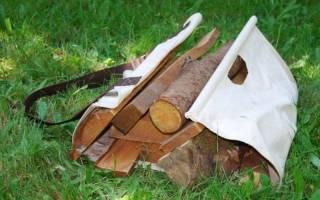 Простое приспособление для переноски дров