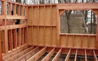 Как построить каркасный двухэтажный дома?