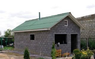 Как правильно построить баню из блоков?