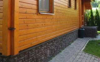 Варианты отделки цоколя деревянного дома