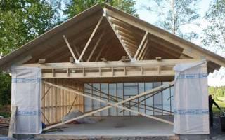 Как построить временный гараж?