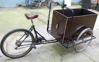 Как сделать грузовой велосипед из обычного