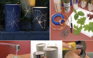 Оригинальные светильники для дачи из банок