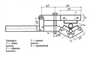 Удобный резцовый труборез из профиля и цепи
