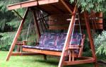 Как построить качели на даче?