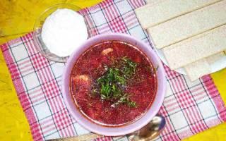 Как готовить борщ, со свежей капустой и красной свеклой