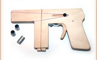 Пистолет из дерева своими руками