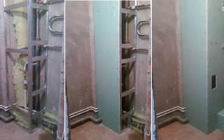 Как сделать короб из гипсокартона в туалете